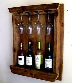 Wine Bottle Rack and Glass Holder
