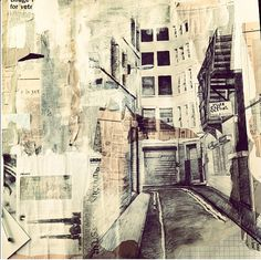 : A LEVEL FINE ART- good use of media for those looking at architecture