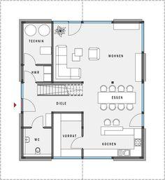 Fertighaus aus Holz - Effizienzhaus 55 - HUF Haus modum: - HUF HAUS