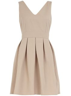Nude bow back dress - $44