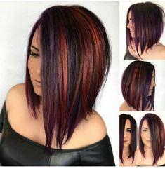 66 Chic Short Bob Hairstyles & Haircuts for Women in 2019 - Hairstyles Trends Choppy Bob Hairstyles, Bob Hairstyles For Fine Hair, Long Bob Haircuts, Red Hairstyles, Modern Haircuts, Medium Hair Styles, Curly Hair Styles, Glamorous Hair, Lob Haircut