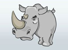 Cartoon Angry Rhino Royalty Free Clipart Picture Pictures to pin on ...