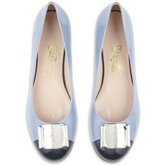 Salvatore Ferragamo Fun Patent Flat ($245) ❤ liked on Polyvore