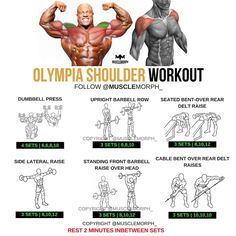 """7,138 Likes, 38 Comments - MuscleMorph® (@musclemorph_) on Instagram: """"Train Your Shoulders Like a CHAMP! Try this workout LIKE/SAVE IT if you found this useful. FOLLOW…"""""""