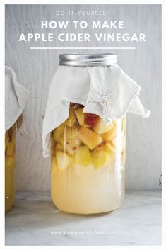Got an overload of apples? Learn how to make apple cider vinegar at home. Recipe at In Jennie's Kitchen.