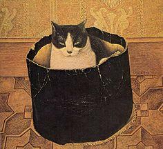 Surprise Contents Solomon Meijer Cat in by HeatherwoodArtPrints