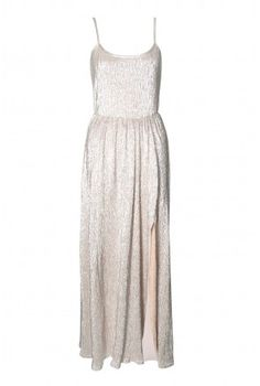 Zoom + Rare Lurex Strap Maxi Dress