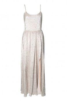 Zoom + Rare Lurex Strap Maxi Dress