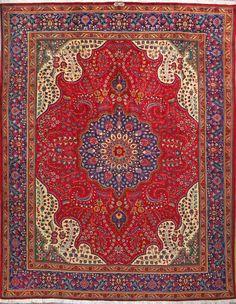 "Buy Tabriz Persian Rug 9' 9"" x 12' 6"", Authentic Tabriz Handmade Rug"