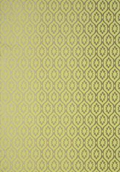 LUCAS, Green on Metallic Gold, T13054, Collection Monterey from Thibaut