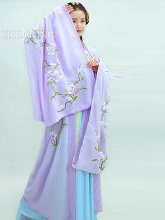 Summer Hanfu Embroidery Big sleeve unlined upper garment Women Clothing