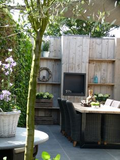 sfeer love this for a cosy little backyard