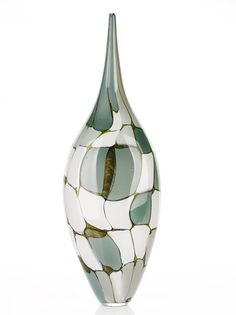 Art-Glass Blown Glass Vessel By artist Nick Mount