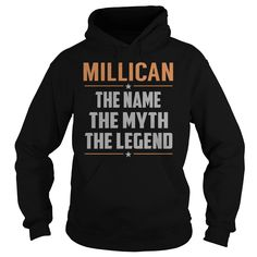 MILLICAN The Name The Myth The Legend Name Shirts #Millican