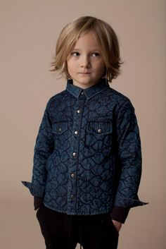 Cool quilted boys shirt from Soft Gallery for winter 2013 warmth.