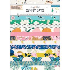 Crate Paper Sunny Days Paper Pad with Foil Accents Online Scrapbook, Scrapbook Supplies, Scrapbook Paper, Craft Supplies, Scrapbooking, Crate Paper, Studio Calico, Tim Holtz, Amy Tangerine