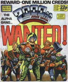 Comic Book Covers, Comic Book Heroes, Comic Books Art, Comic Art, Judge Dredd Comic, Judge Dread, 2000ad Comic, Sci Fi Comics, Cartoon Books