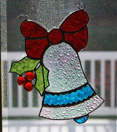 Stained glass sun catcher/ wall hanging Christmas by ManemannArt