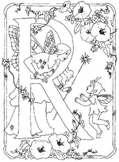 coloring page Alphabet fairies on Kids-n-Fun. Coloring pages of Alphabet fairies on Kids-n-Fun. More than coloring pages. At Kids-n-Fun you will always find the nicest coloring pages first! Fairy Coloring Pages, Alphabet Coloring Pages, Cool Coloring Pages, Printable Coloring Pages, Adult Coloring Pages, Coloring Books, Free Coloring Sheets, Flower Fairies, Fairy Art