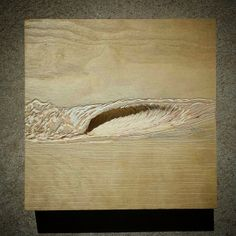 Ocean wave, wood carving. :) I like how this is showing me a lot of details on how I can draw waves  :) Mini Barrel. (6 in. × 6 in.)  To paint or not to paint- that is the question. By: Nathan Ledyard At:http://surfers-eye-view.tumblr.com/post/81532949799/blacks-beach-41-x-24-acrylic-on-carved