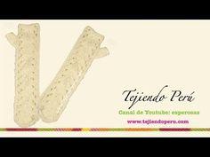 Mitones largos tejidos en dos agujas (Parte 1) - YouTube
