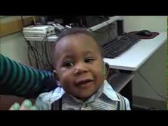 6 Month Old Baby Jaylen Hears with Hearing Aids for the First Time! This make me so happy! Such a beautiful baby!