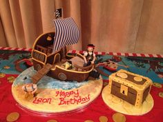 Jake and the Neverland pirates birthday cake for my son ;)