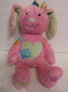 "Hallmark Pink Bunny Rabbit Until We Hug Plush Stuffed 15"" Recording Unit Removed #Hallmark #AllOccasion"