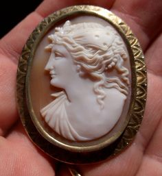 Cameos 101 history of cameo jewelry value and more large carved 10k art deco butterfly goddess shell cameo brooch valentine gift jewelry aloadofball Choice Image