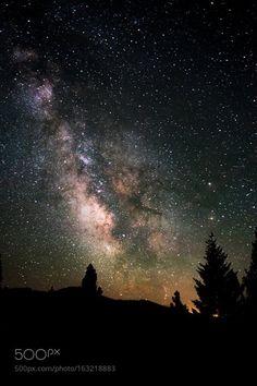 Fire Sky  An extravagant milky way band in Northern California  Camera: NIKON…