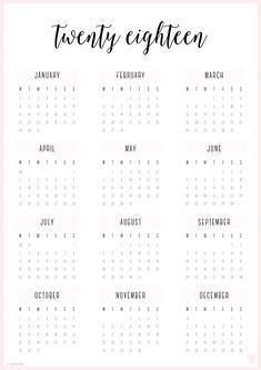 Free Printable 2018 Irma Planner Covers & Annual Calendars   Eliza Ellis // Planners. Organizers. Printables