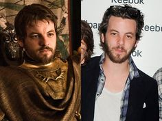 """Gethin Anthony (Renly Baratheon) - Gethin Anthony shares the same facial hair as his """"Game of Thrones"""" character Renly Baratheon, but Anthony keeps his mane a tad bit longer. Renly is the younger son of the House Baratheon. Following the death of his oldest brother King Robert, Renly claimed the Iron Throne for himself. Unfortunately for fans of the charming gay prince, Renly saw an untimely death by a murderous shadow earlier this season."""