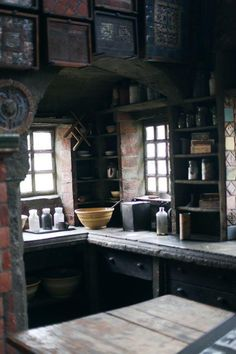 Cottage style kitchen - The Beauty Of Tile Works – Cottage style kitchen Witch Cottage, Witch House, Old Cottage, Küchen Design, House Design, Design Ideas, Brick Design, Decor Scandinavian, Interior And Exterior
