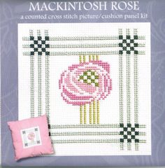 I love this pattern.  It is based on the work of Charles Rennie Mackintosh and is almost a symbol of the Glasgow style.
