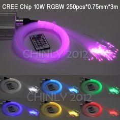 69.07$  Buy here - http://ali8tn.worldwells.pw/go.php?t=32219683289 - CREE chip 10W RGBW twinkle 28Key RF Remote LED fibre optique star sky ceiling Lights Kit 250pcs 0.75mm 3M optical fiber 69.07$