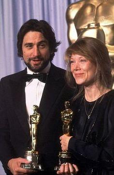 "Academy Award Winners - Robert De Niro - Best Actor Oscar for ""Raging Bull"" and Sissy Spacek - Best Actress Oscar for ""Coal Miner's Daughter"" 1980"
