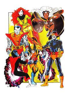 The Marvel Age of Comics, marvel1980s:   1983 - X-Men poster by Alan Davis...
