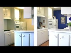 ▶ How to decorate a kitchen with temporary wallpaper and backsplash - Season 2 - Ep 3 - YouTube