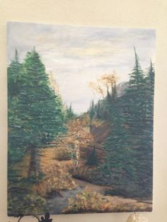Autumn in the woods, oil on canvas. Artist: Kare Dreher