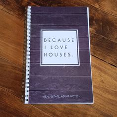 Real Estate Agent Notes - Keep Track of all your clients in this awesome notebook. Yes, we are all things digital, but we still write things down and how great to have a notebook for all the important