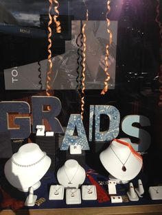 Our graduation window for our Grads and Dads window 2015.