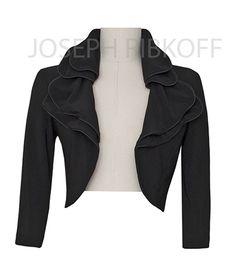 Joseph Ribkoff Black Bolero Jacket NEW Arrival at ASPIRATIONS.