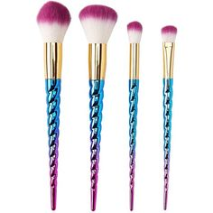 Charlotte Russe Unicorn Brush Set ($15) ❤ liked on Polyvore featuring beauty products, makeup, makeup tools, makeup brushes, multi, set of makeup brushes, charlotte russe and set of brushes