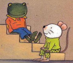 Nellie en Cézar  zitten op de trap