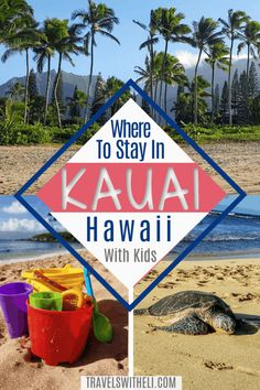 Where to stay on the island of Kauai, Hawaii with kids - Each side of the island of Kauai is so different. Find the area best for your Hawaii family beach vacation. Hawaii Vacation Tips, Italy Vacation, Hawaii Travel, Travel Usa, Beach Vacations, Hawaii Usa, Kauai Hawaii, Travel With Kids, Family Travel