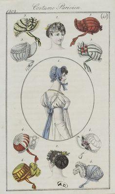Journal des dames et des modes / Costume Parisien: 20 Octobre, 1808 (c)