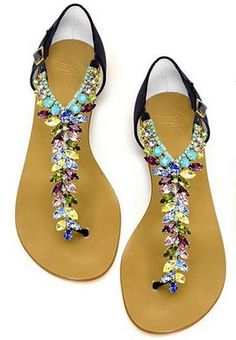 Shoe Candy: Colourful swirly aquatic/beachy patterned maxi dress or skirt, sheer white top or halter neck.  Big beaded (wooden?) necklace.  Simple or no bracelet.