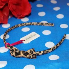 £4 Mini Leopard Bow Alice Band