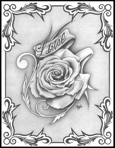 Flower tattoos, body art tattoos, coloring pages to print, adult coloring p Rose Drawing Tattoo, Tattoo Design Drawings, Pencil Art Drawings, Art Drawings Sketches, Skull Coloring Pages, Love Coloring Pages, Free Adult Coloring Pages, Colouring, Graffiti Tattoo