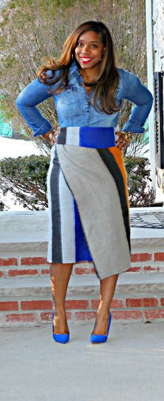 Style & Poise: Part 1: Blanket Scarf Styled as a Wrap Skirt